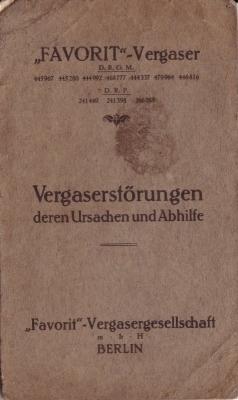 Favorit Vergaser 1920/30er Jahre