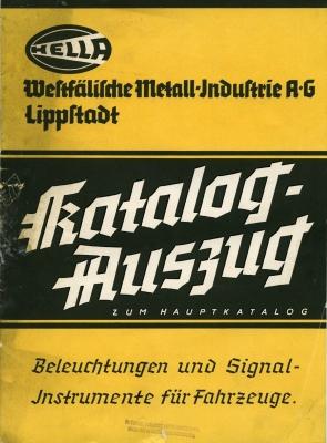 Hella Katalog Auszug 1930er Jahre
