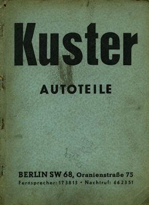 Kuster Autoteile Katalog 1940