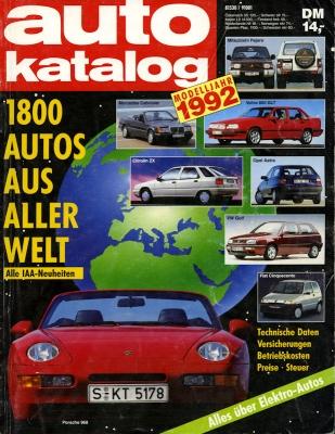 Auto Katalog 1992 Nr.35