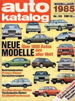 Auto Katalog 1985 Nr.28