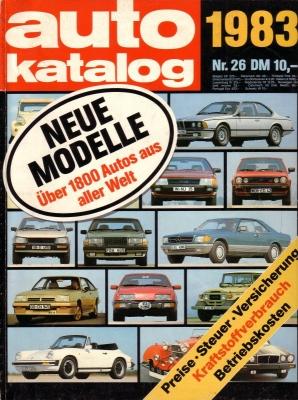 Auto Katalog 1983 Nr.26