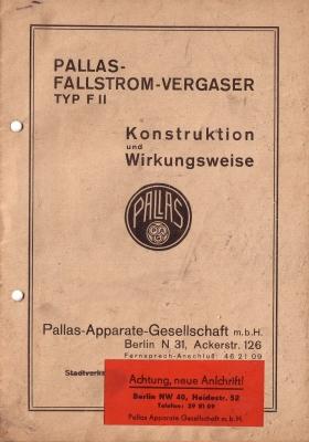 Pallas Vergaser Typ F II 1940er Jahre ?