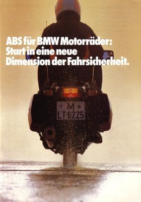 ABS für BMW Motorräder Prospekt 1986