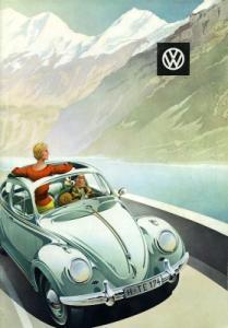 VW Käfer Prospekt ca. 1960