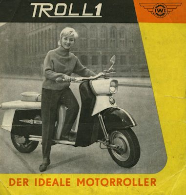 iwl troll 1 roller prospekt 1962 nr iwl080 oldthing motorrad firmen f j. Black Bedroom Furniture Sets. Home Design Ideas