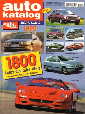 Auto Katalog 1996 Nr.39