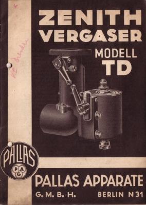 Pallas Zenith Vergaser TD 5.1940