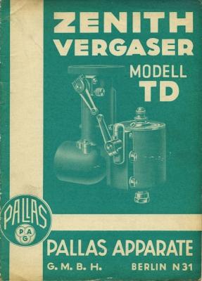 Pallas Zenith Vergaser TD 2.1936