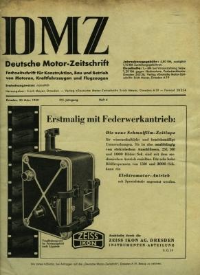 DMZ Deutsche Motor-Zeitschrift 1939 Heft 4