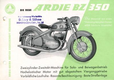 Ardie BZ 350 Prospekt 10.1954