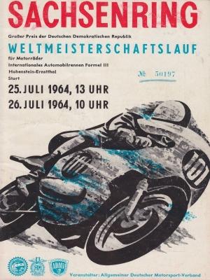 Programm Int. Sachsenringrennen 17.8.1963