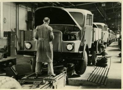 Foto Horch H3A Bandmontage 1956