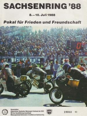 Programm Int. Sachsenringrennen 8.7.1988