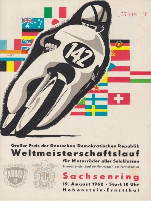 Programm Int. Sachsenringrennen 19.8.1962