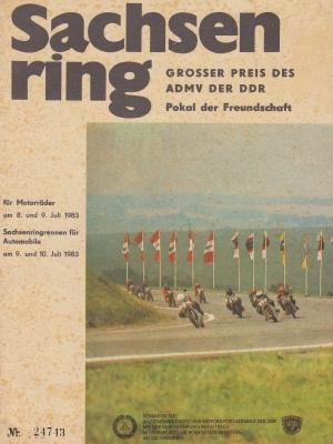 Programm Int. Sachsenringrennen 8.7.1983