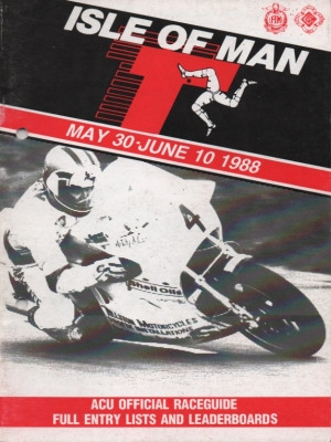 Programm Isle of Man TT May/June 1988
