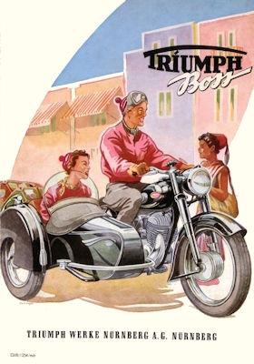 Triumph Boss Prospekt 1954/55