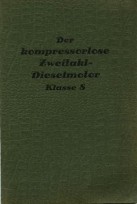 EMW Dieselmotor Klasse 5 Bedienungsanleitung 1930er Jahre
