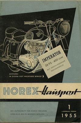 Horex Hauspost 1955 Heft 1
