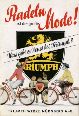 triumph fahrrad prospekt 1930er jahre nr twn265. Black Bedroom Furniture Sets. Home Design Ideas