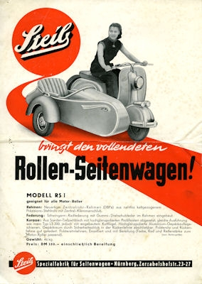 adler roller junior prospekt 1950er jahre nr adl m5545 oldthing motorrad firmen a e. Black Bedroom Furniture Sets. Home Design Ideas