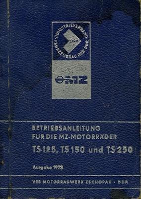 MZ TS 125 150 250 Bedienungsanleitung 1973