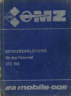 MZ ETZ 250 Bedienungsanleitung 1984