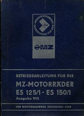MZ ES 125/1 150/1 Bedienungsanleitung 1973