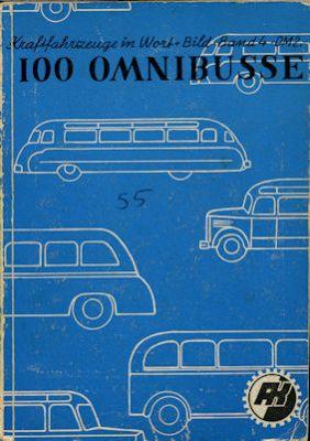 Motorkatalog 100 Omnibusse Band 4 1955