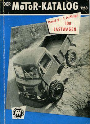 Motorkatalog 100 Lastwagen Band 5 1958