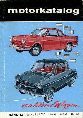 Motorkatalog 100 Kleine Wagen Band 12 1959