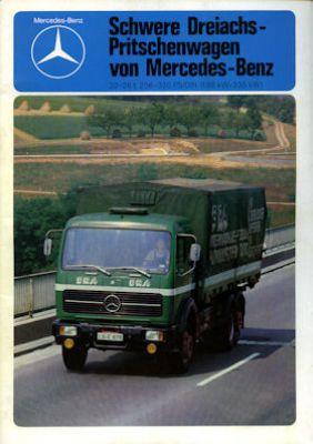 Mercedes-Benz 3 Achs Pritschenwagen Prospekt 10.1977