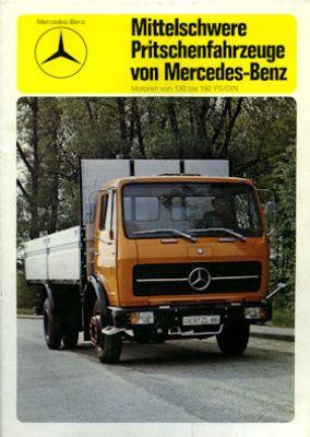 Mercedes-Benz Mittel schw. Pritschenwagen Mappe 1975
