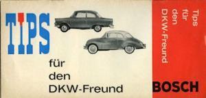 Bosch Tips für den DKW-Freund ca. 1960
