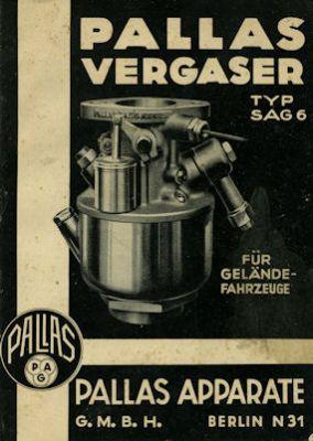 Pallas Vergaser Typ SAG 6 2.1936
