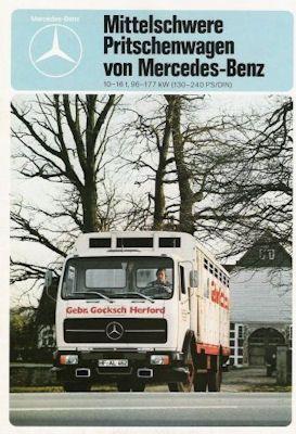 Mercedes-Benz Mittelschwere Pritschenwagen Prospekt 6.1978