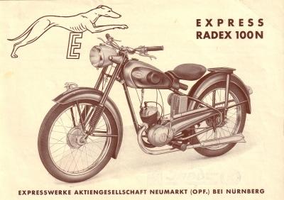 Express Radex 100 N Prospekt 1950er Jahre