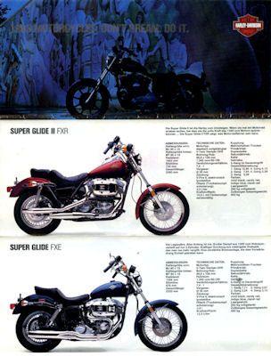 Harley-Davidson Programm 1983