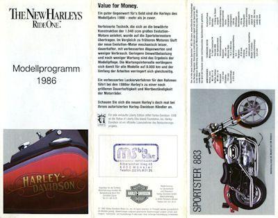 Harley-Davidson Programm 1986