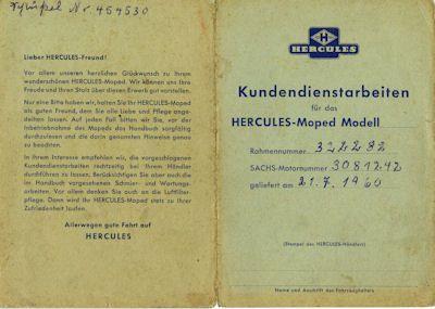 Hercules Kundendienstarbeiten 1960