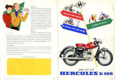 Hercules K 100 Prospekt 1960er Jahre
