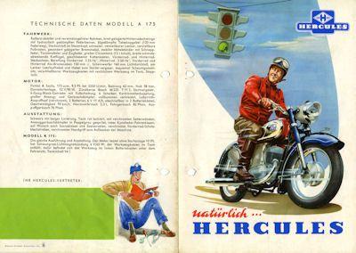 Hercules A 175 u. K 175 Prospekt 1960er Jahre