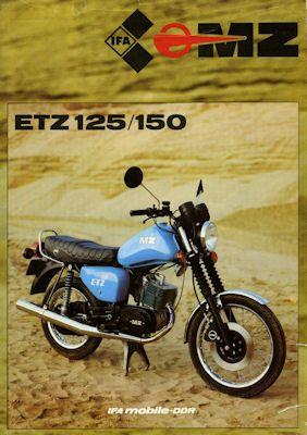 MZ ETZ 125/150 Prospekt 1986