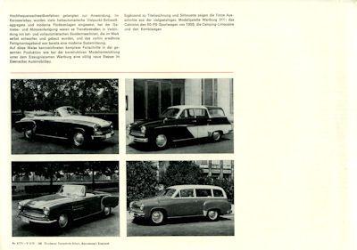 Wartburg 311 Prospekt ca. 1958