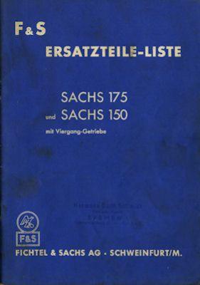 Sachs 150 und 175 ccm Ersatzteilliste 7.1955