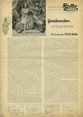 Puch Roller Test ca. 1956