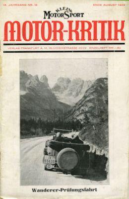Klein-Motor-Sport / Motor-Kritik 1929
