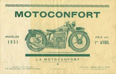 Motoconfort Programm 1931