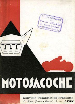 Motosacoche Programm ca. 1930